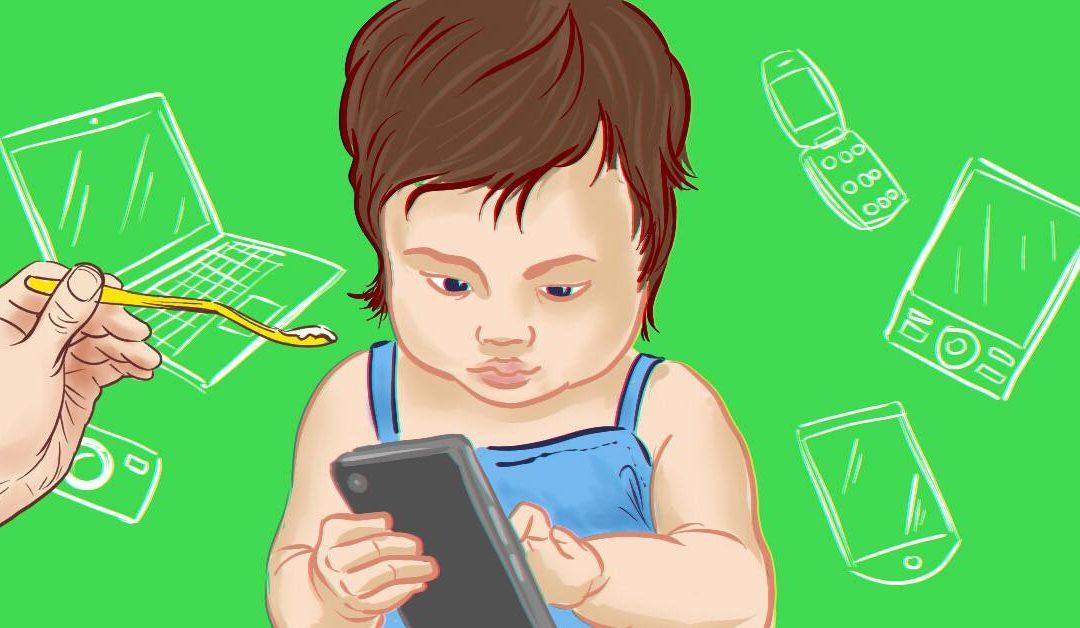 Что делать, если ребенок не ест без планшета